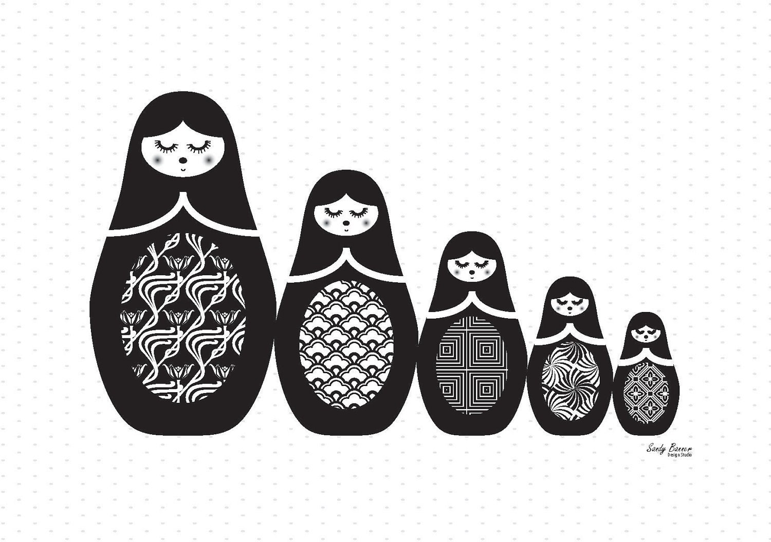 DIY Black and White Art Cards for Baby – Satsuma Designs