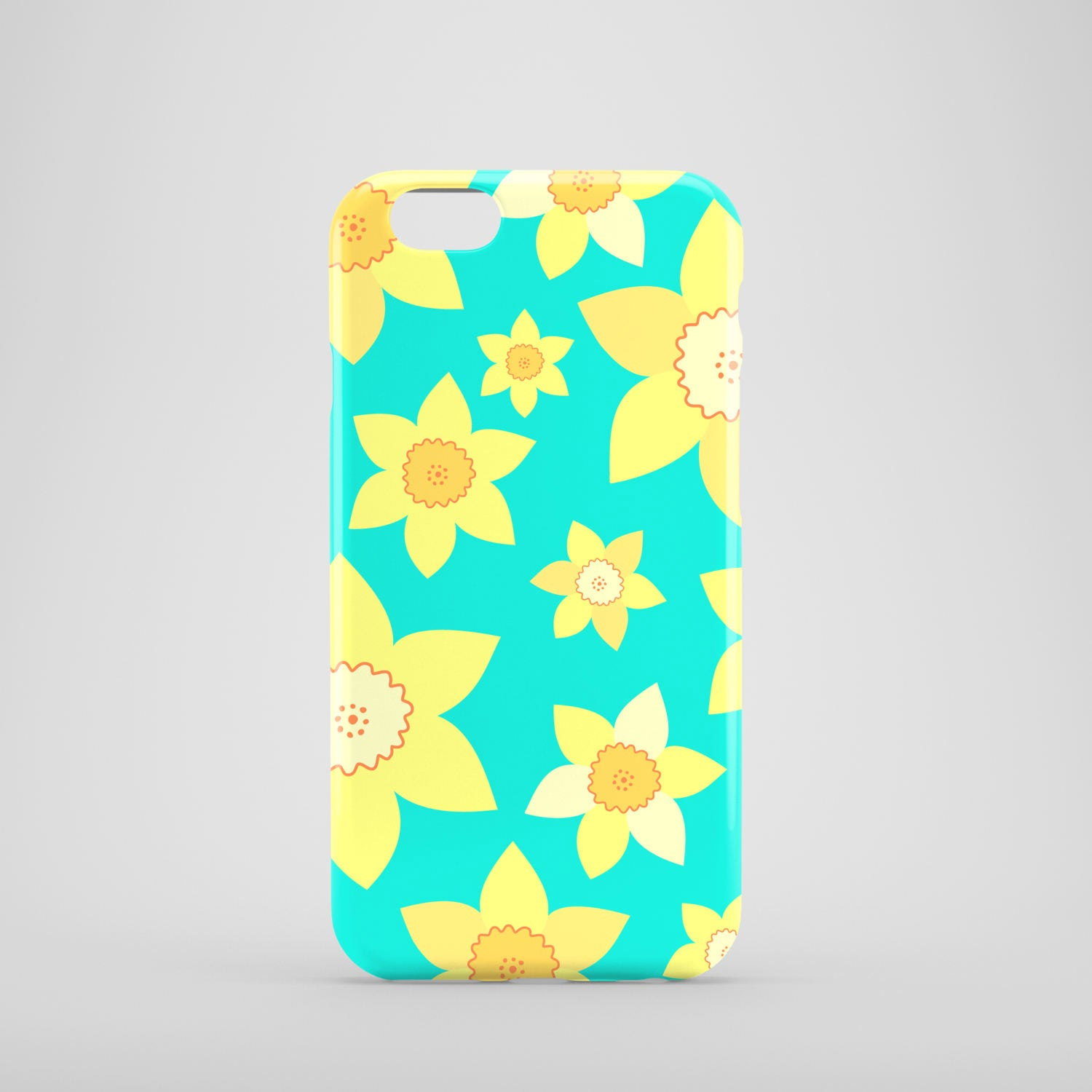 Daffodils mobile phone case  summer iPhone 7 case  floral iPhone 7 Plus case  iPhone Se  iPhone 6S  iPhone 6  iPhone 5S  iPhone 5