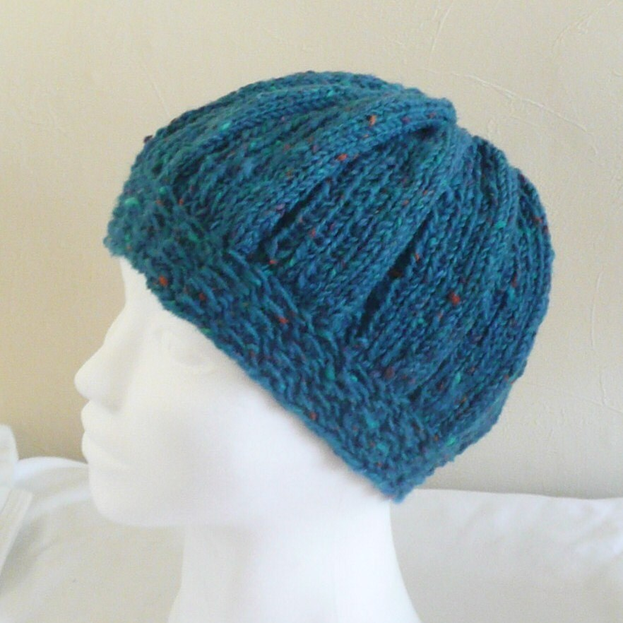 Style Knitting Patterns : HAT KNITTING PATTERN Slouchy Tam Style Treen Tweedy Hat by ceradka