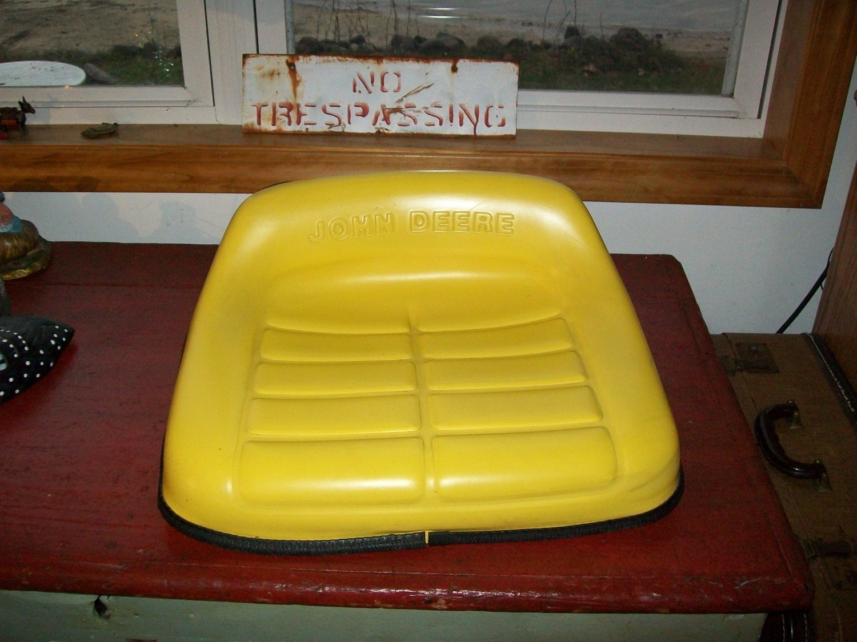 Antique John Deere Seat : Vintage john deere tractor seat riding by lucysluckydeals