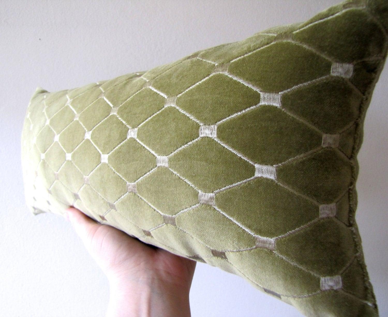 Decorative Neck and Lumbar Pillow Moss by polkadotsmoonbeams