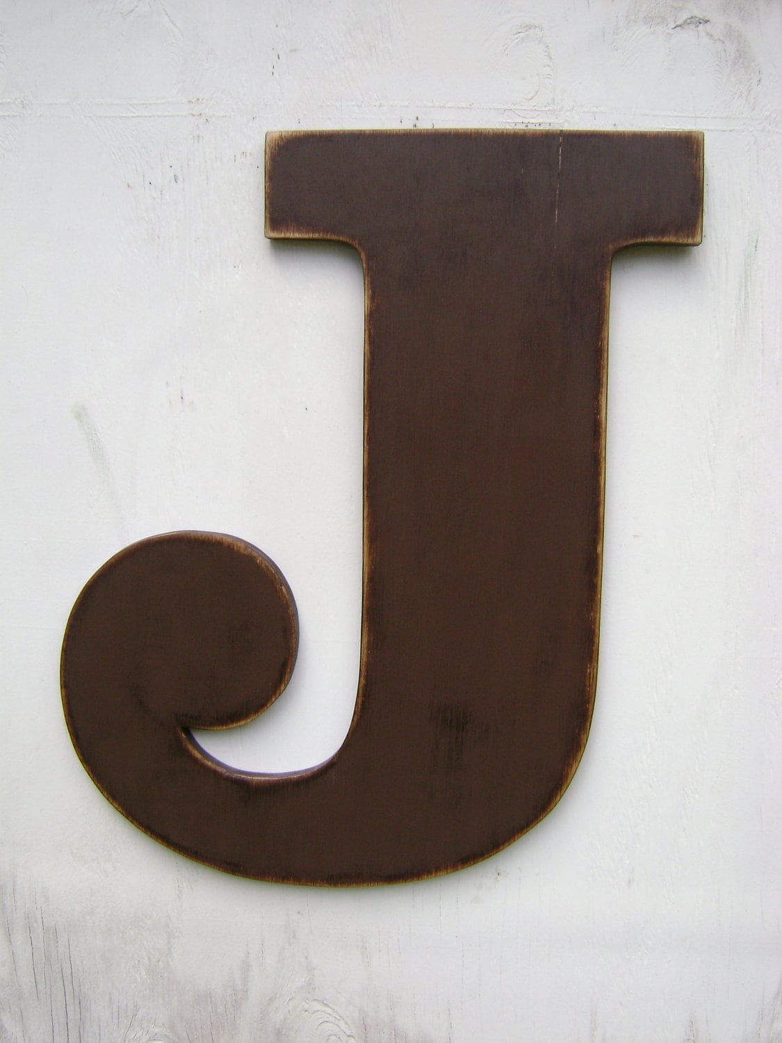 Large Initial Letters Large Wood Wall Letter J Letter Sign 24 Wall By