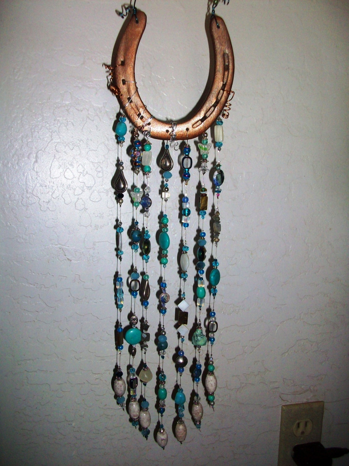Sale 20 off horseshoe sun catcher crystals and by for Horseshoe crafts for sale