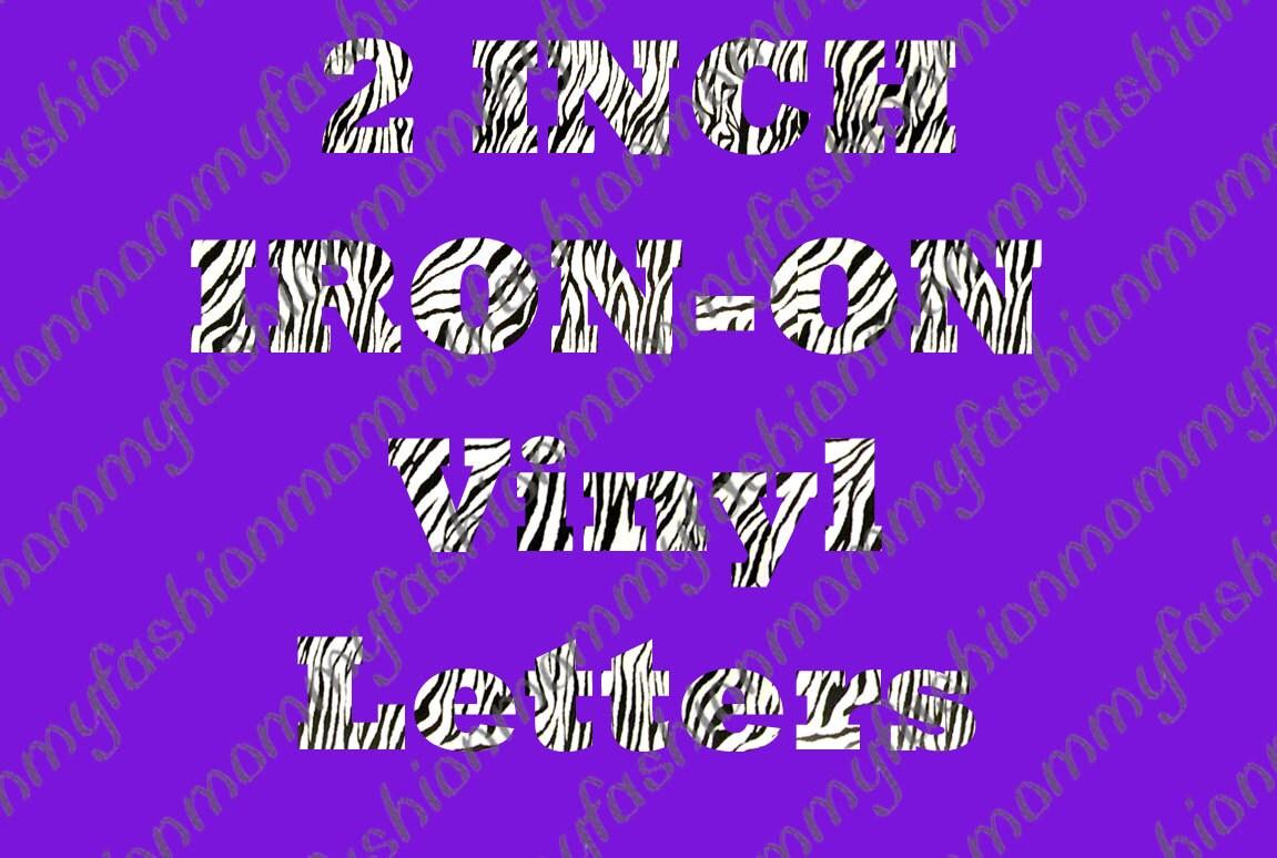 25 LETTER Name Custom T-shirt Heat Transfer Iron On Personalized Vinyl ...