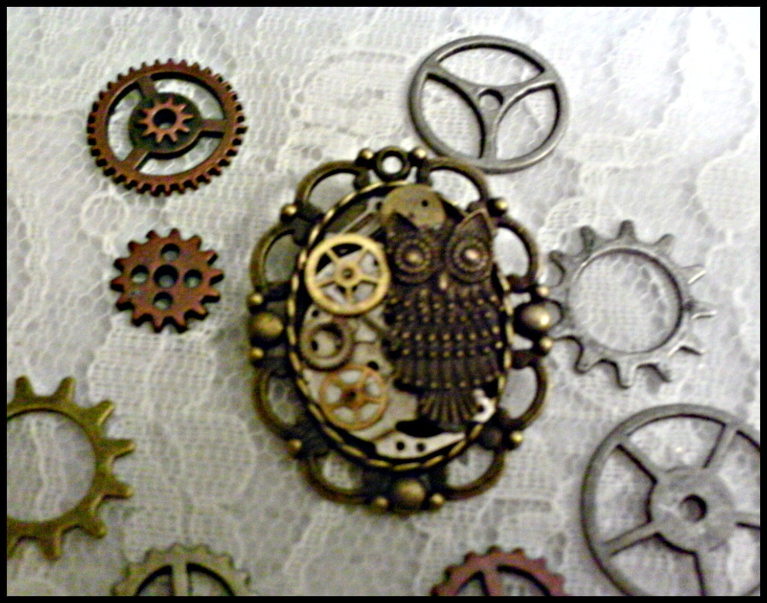 Steampunk Clockwork Owl Brooch - ghostgap