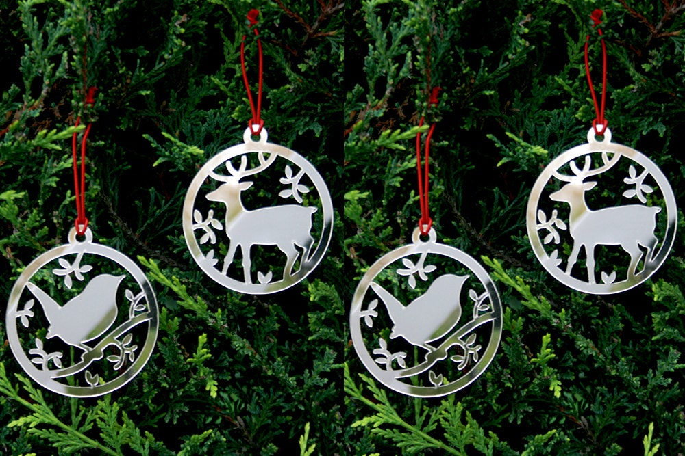 Christmas Tree Decorations Animal Set