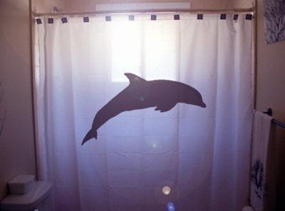 Dolphin shower curtain bathroom decor kids by for Dolphin bathroom design