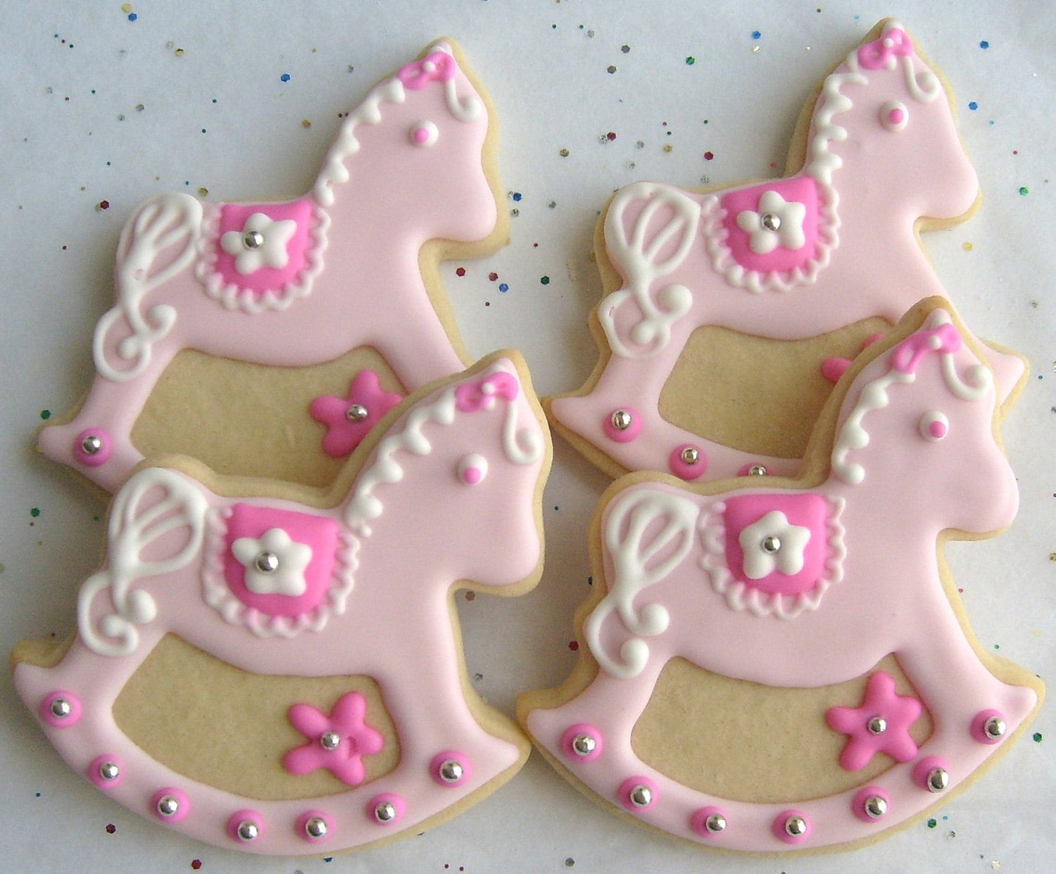 rocking horse cookies baby shower cookie favors 1 by lorisplace