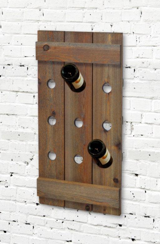 Barn Cedar Wine Rack Shutter Rustic