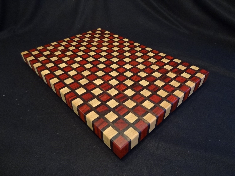 Checker Board Pattern End Grain Cutting Board
