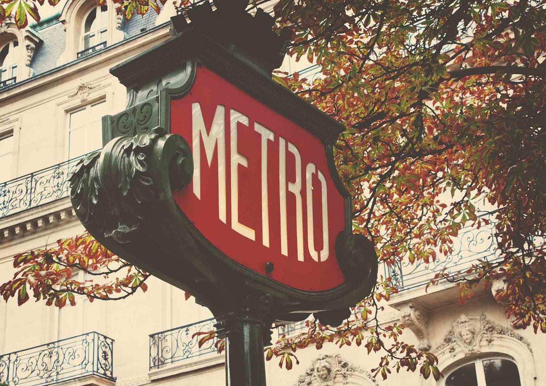 Paris Metro Sign, Paris, France 8x10 Print- Travel Photography