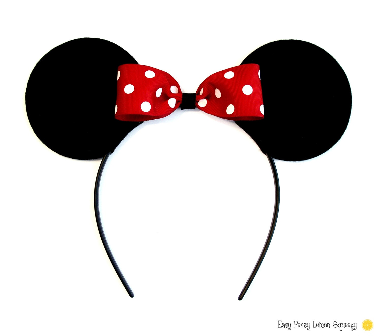 minnie mouse ear template - deluxe minnie mouse ear headbands by easypeasylemon on etsy