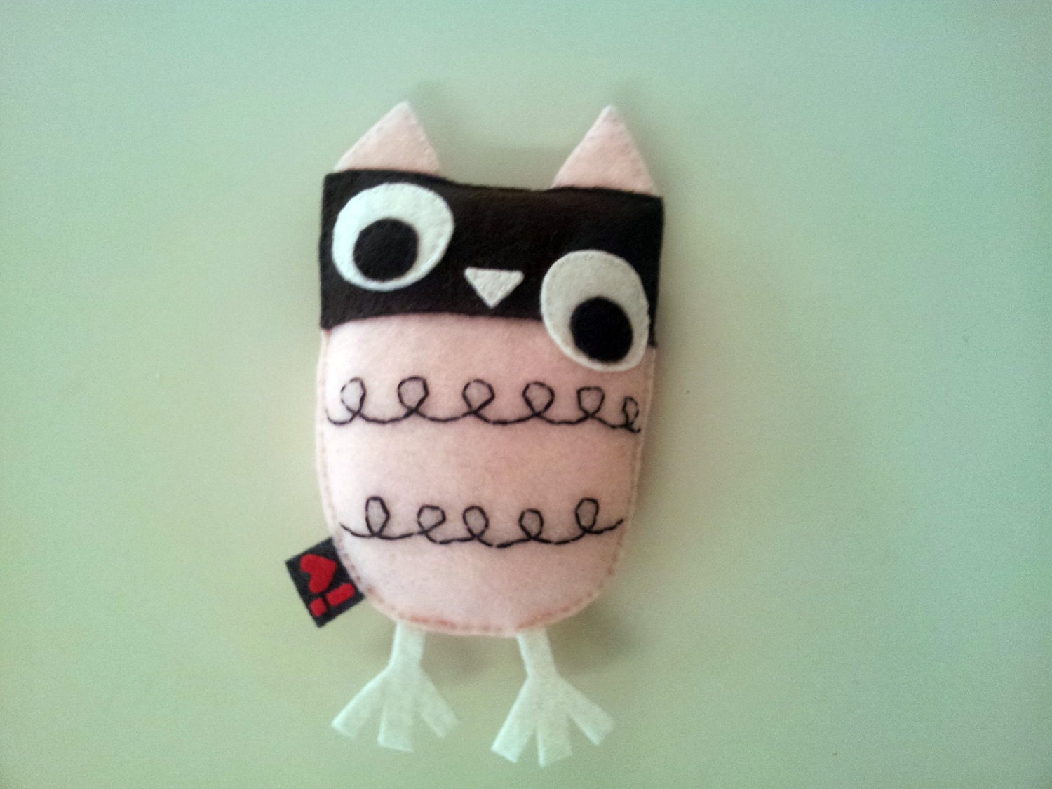 Owl Plush Eco Felt Softie Embroidery Party Favor Gift Nursery Baby Shower - iHartFelt