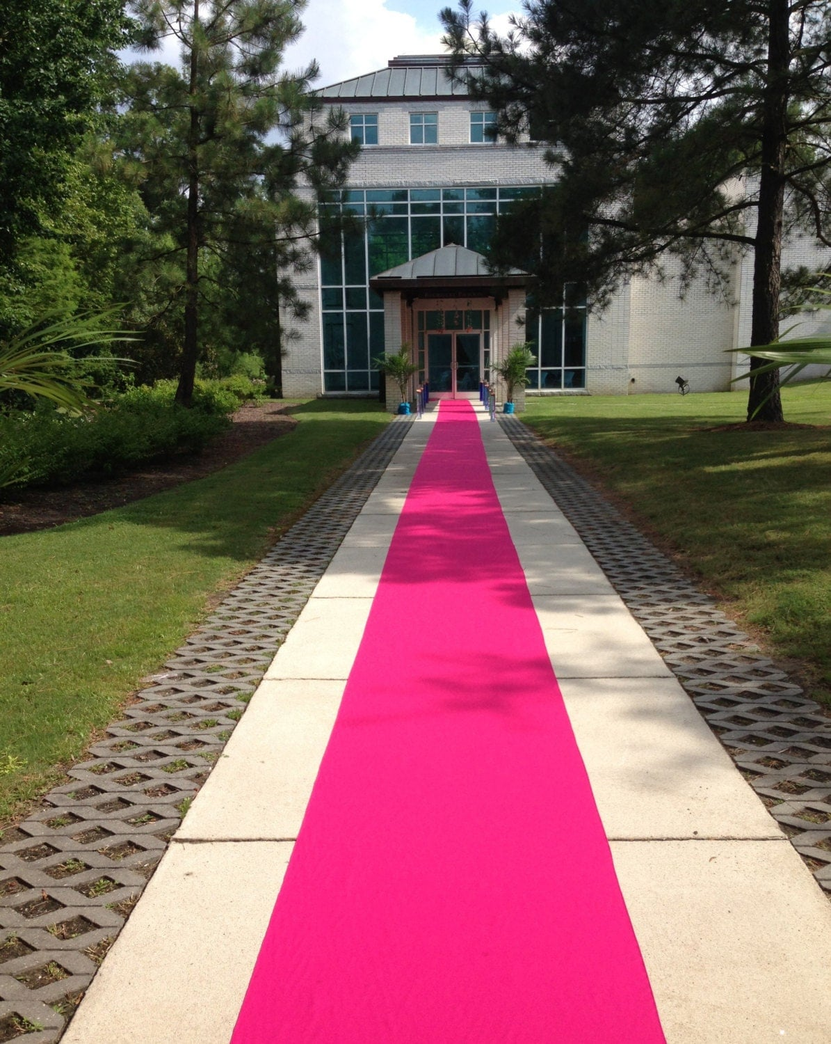 Hot Pink Custom Made Aisle Runner 50 Feet Long By