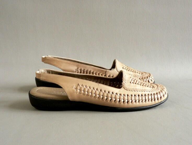 Women's Vintage Woven Huarache Leather Sandals Size 7M - Etsplace