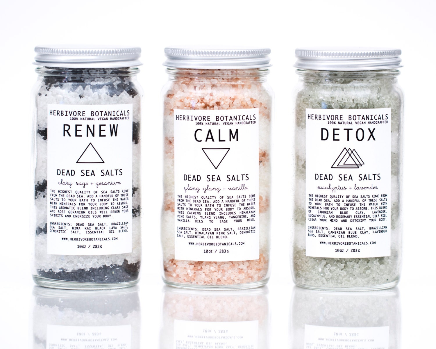 PRE ORDER for February 7th.  Dead Sea Bath Salt Set. 3 Types. Large Sizes. Essential Oils. 100% Natural Vegan Handmade. Gift Set.