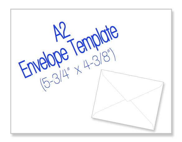 Printable A2 Envelope Template Size 53/4 x by HeritageExpressions