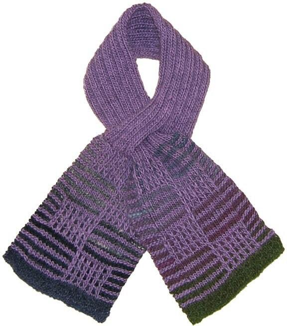 Knitting Pattern Keyhole Scarf : Mosaic Keyhole Scarf Knitting Pattern pdf by knittingknoodle