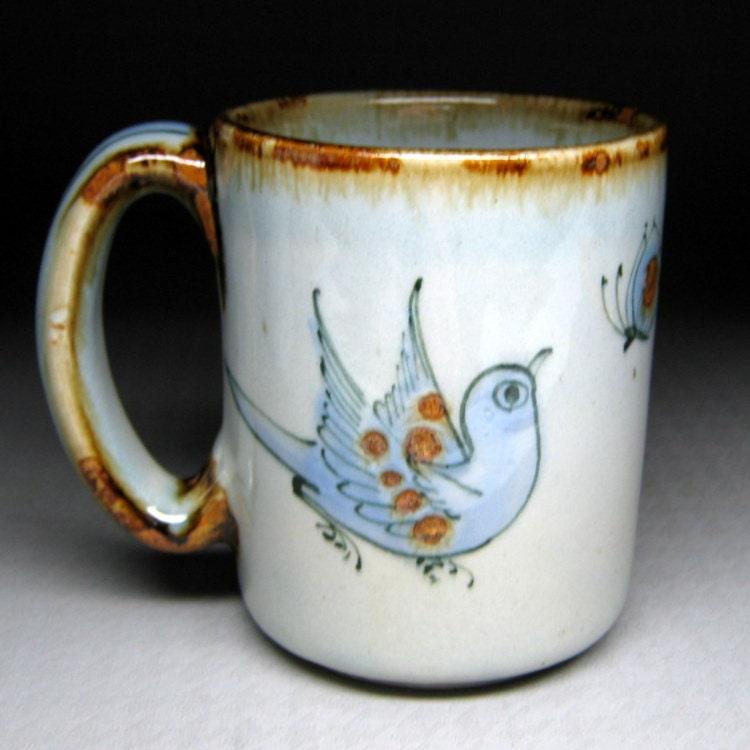Vintage Ken Edwards Pottery Mug Bluebird Tonala By