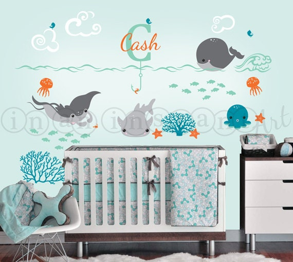 Ocean Friends Decal Under The Sea Nursery With By