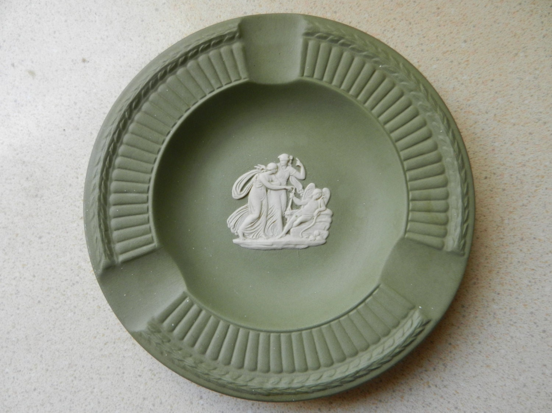 Sage Green Wedgwood Ashtray - PickleRose