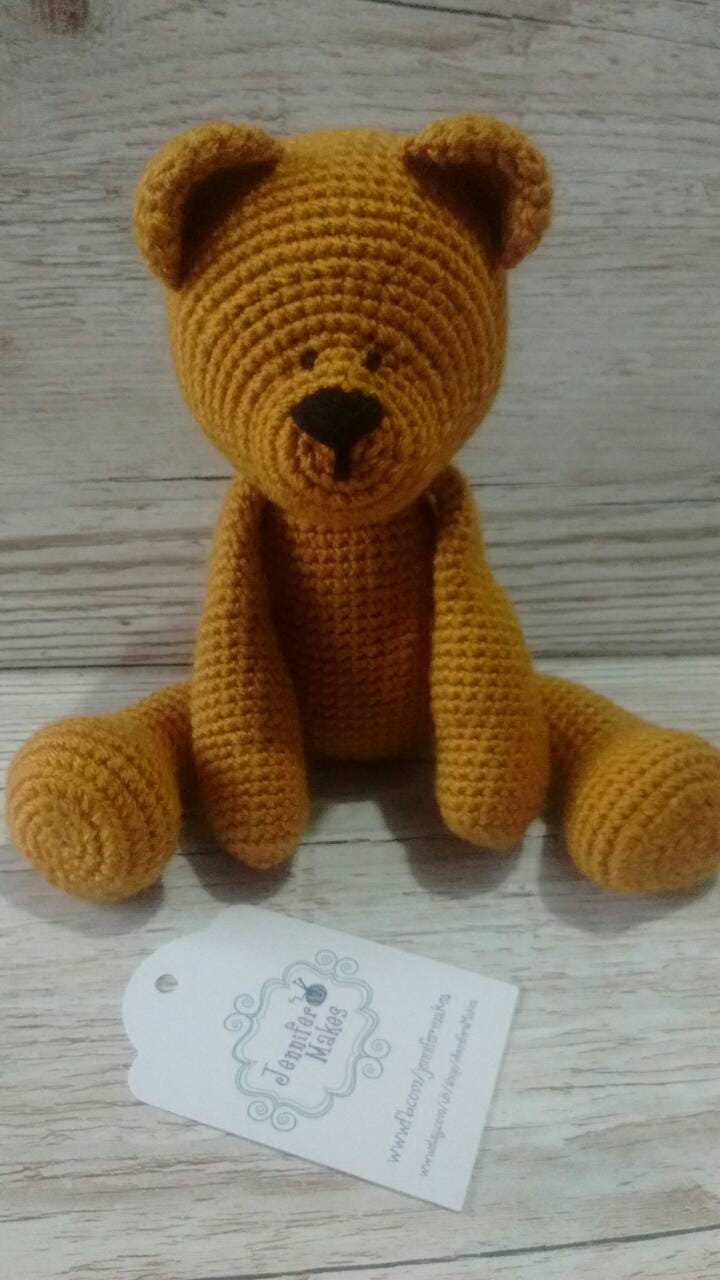 Bear, Honey Bear, Crochet Gold Bear, New Baby Gift, Gender Neutral Baby Gift , Birthday, Christmas, teddy bear