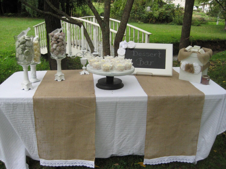 Burlap Table Runner Rustic Wedding Decor by YourDivineAffair