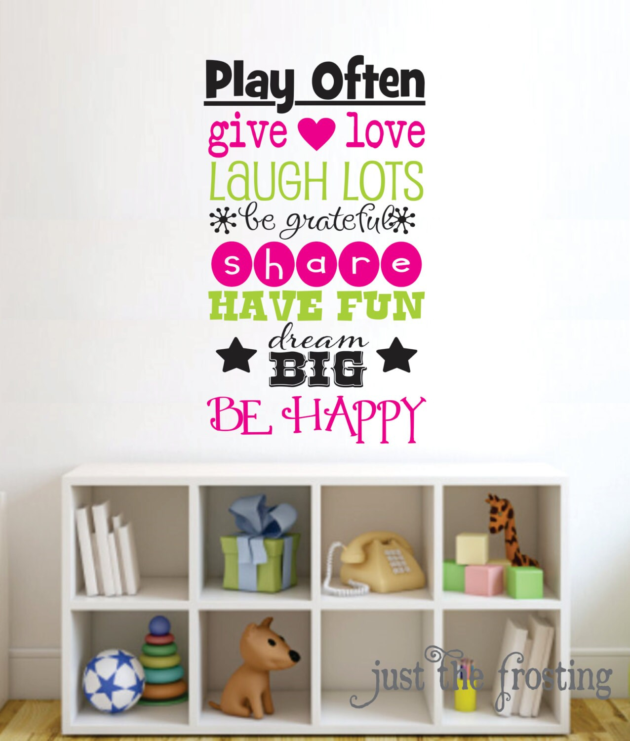 playroom decal playroom wall decal by justthefrosting