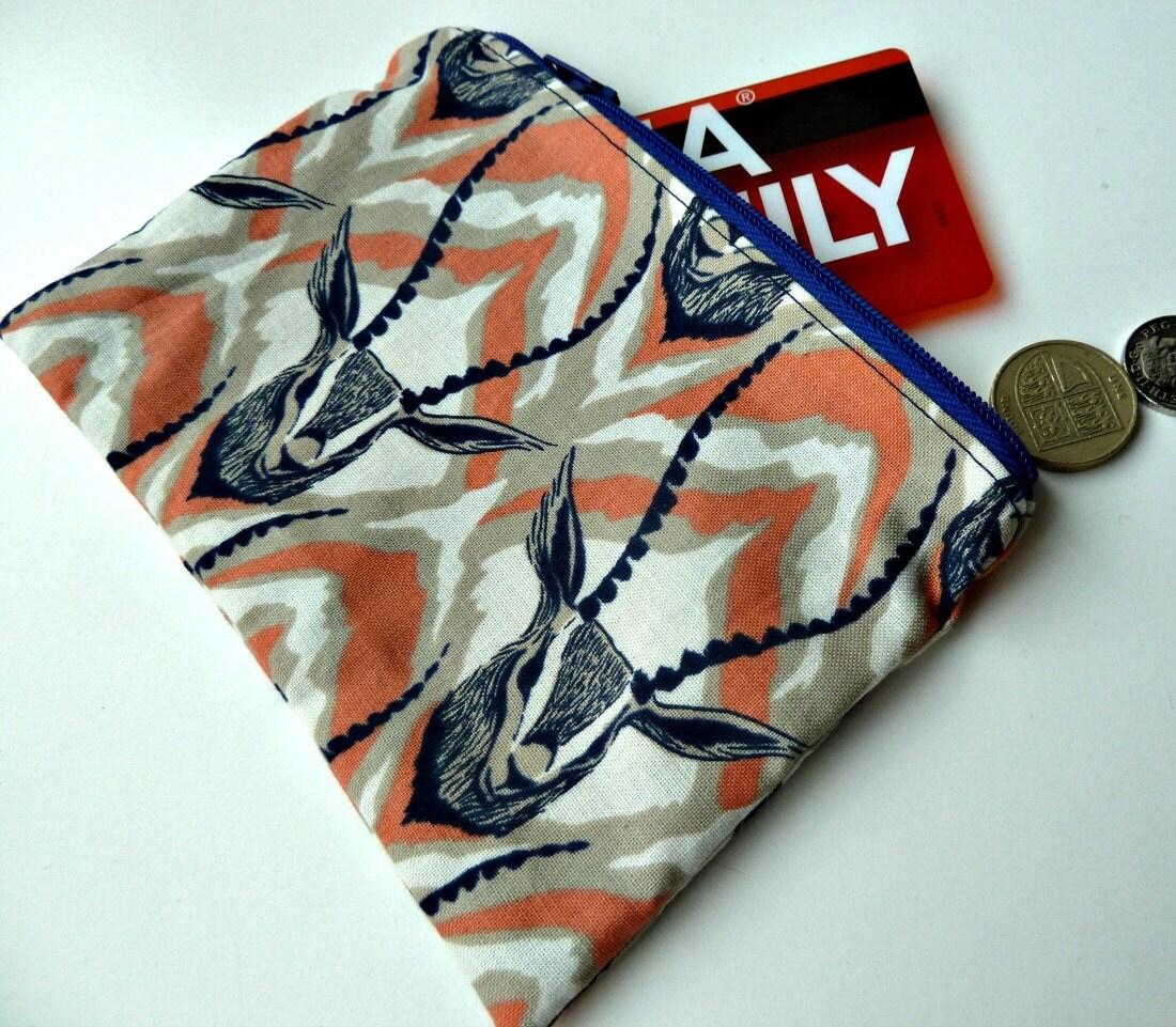 Gazelle purse safari pouch animal gift cosmetic bag