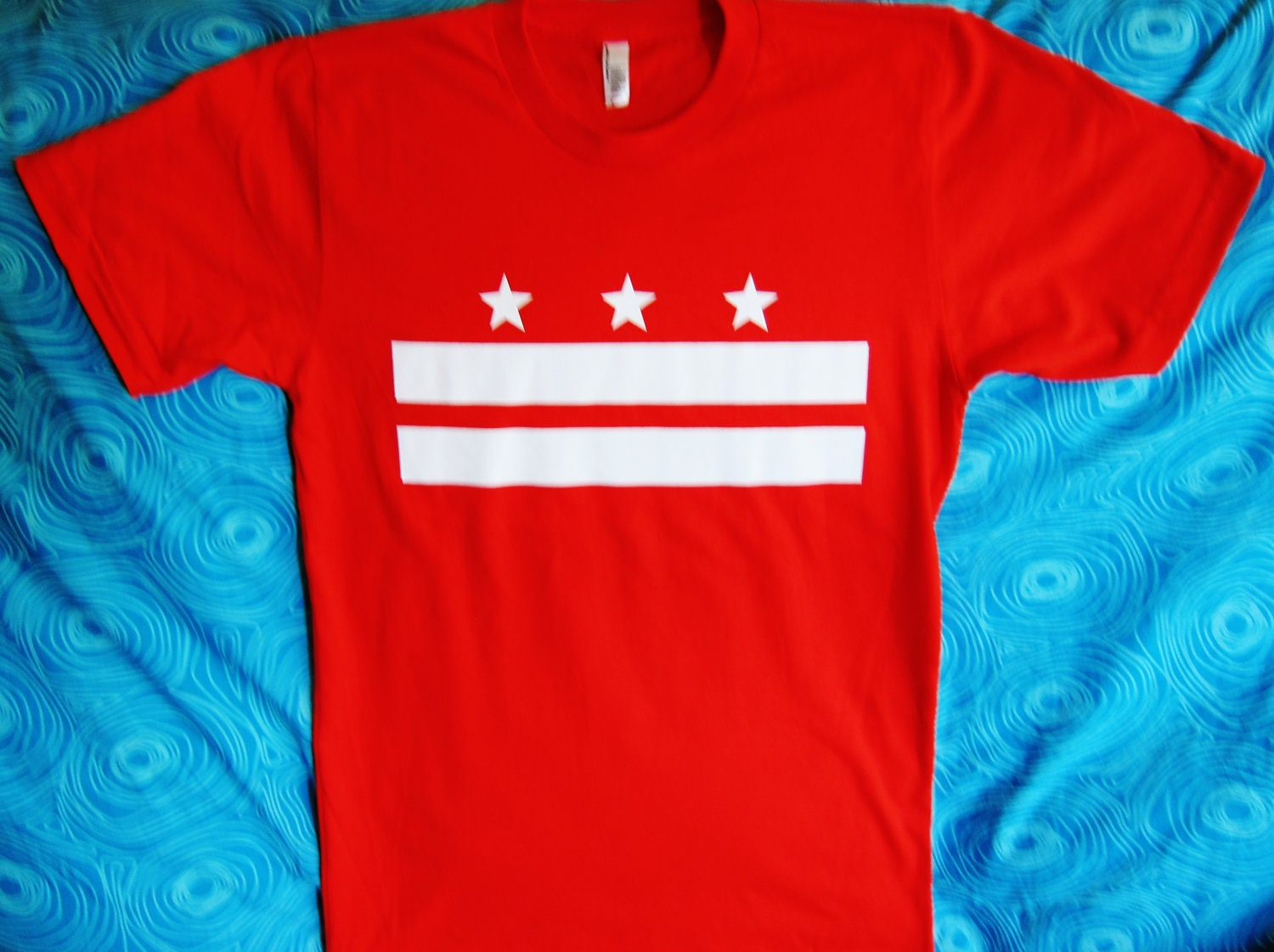 District of columbia flag t shirt by freddyvanderbaugh on for T shirts printing washington dc