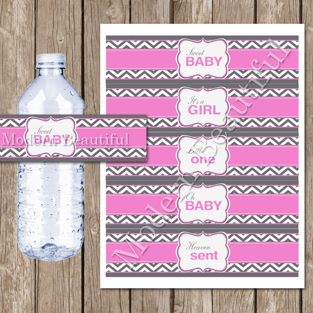 Instant Download Pink And Grey Chevron Baby By Modernbeautiful