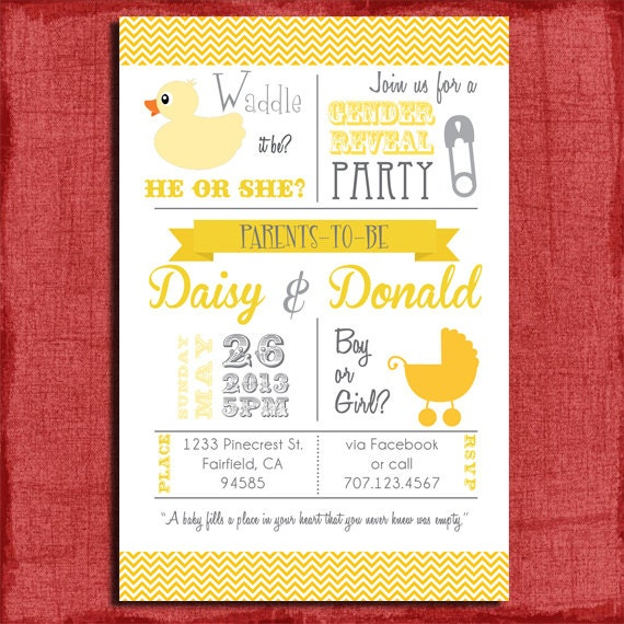 Printable Waddle it be Baby Duck Baby Gender by PuzzlePrints