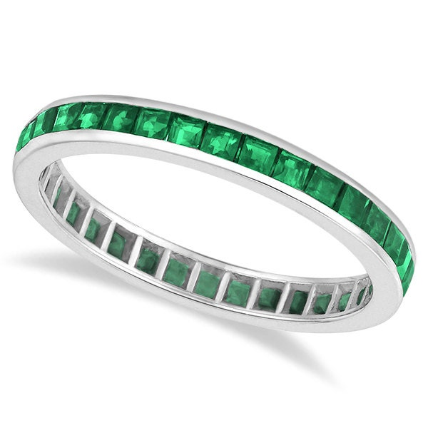 unique princess cut emerald stackable ring for by