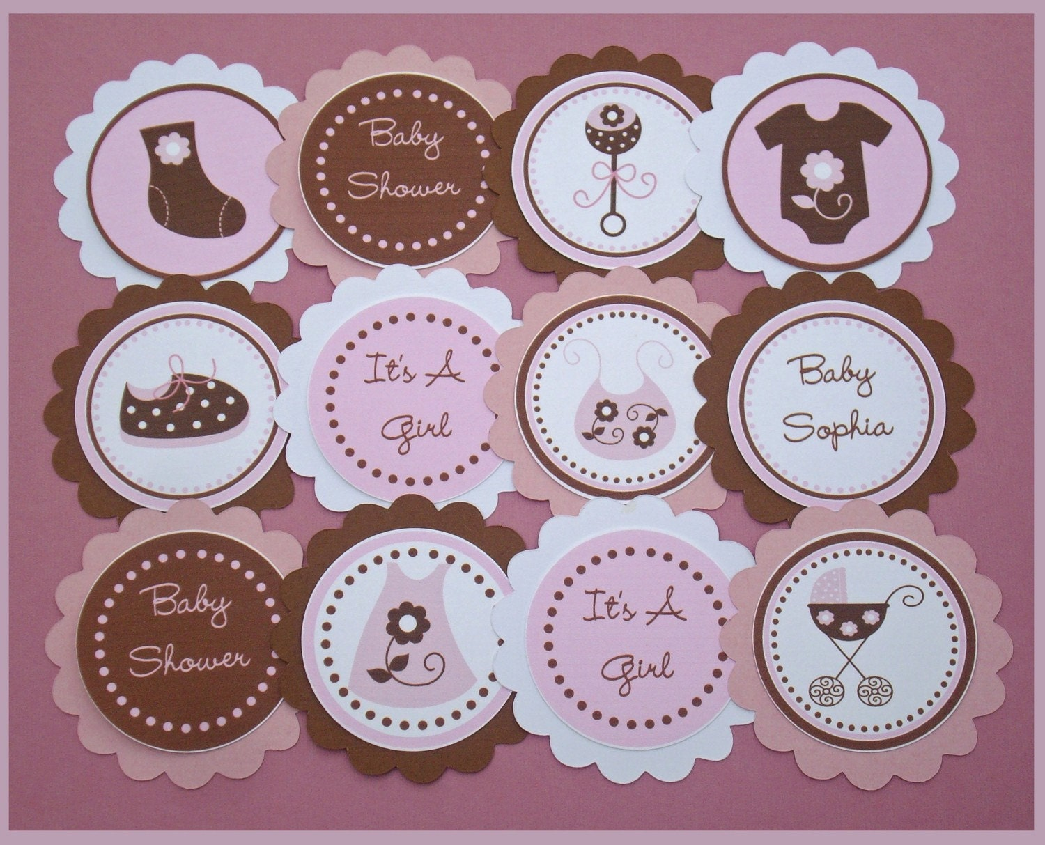 It s A Girl Baby Shower Cupcake Toppers