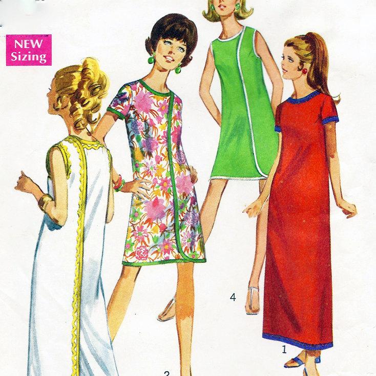 vintage 1960s mod plus size