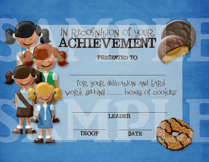 girl scouts multi level cookie sales achievement or