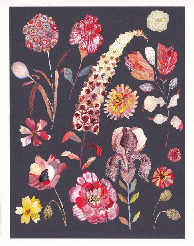 """Botanicals No.1 - 11"""" x 14"""" Archival Print - unitedthread"""