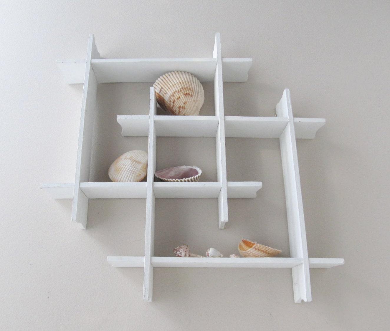 tic tac toe interlocking wall shelf white wood shelf by