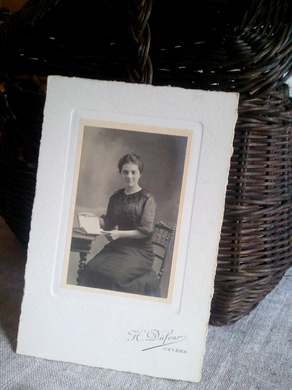 Portrait de photographie Franais des annes 1920 Antique