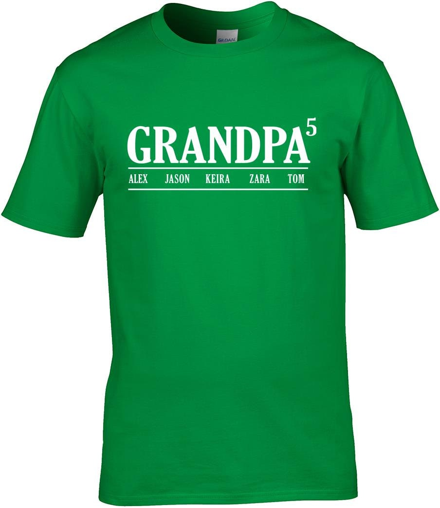 Grandpa T Shirt With kids Names Custom granfather T Shirt Birthday gift T shirt tee shirt T Shirt fathers day gift fathers day top