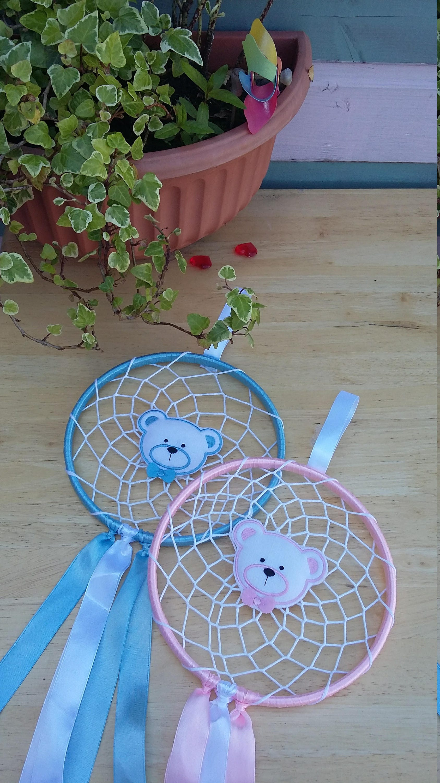 new baby teddy bear dream catcher pinkblue