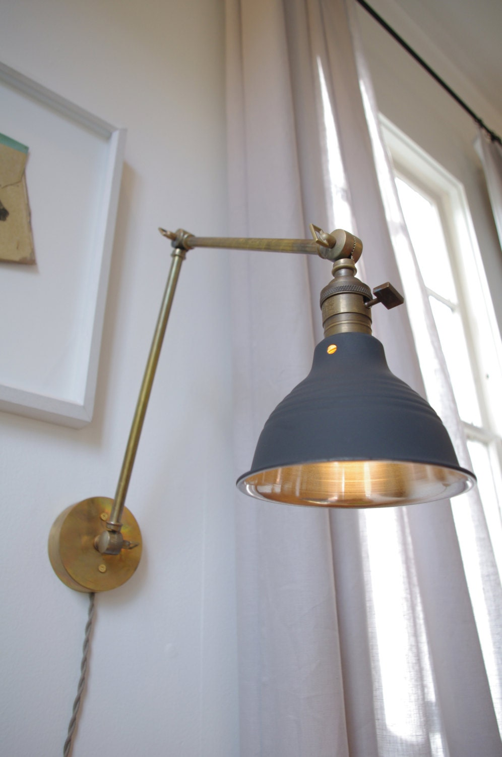 Etsy Wall Lamps : Articulating Industrial Wall Lamp O.C. White Style by LongMadeCo