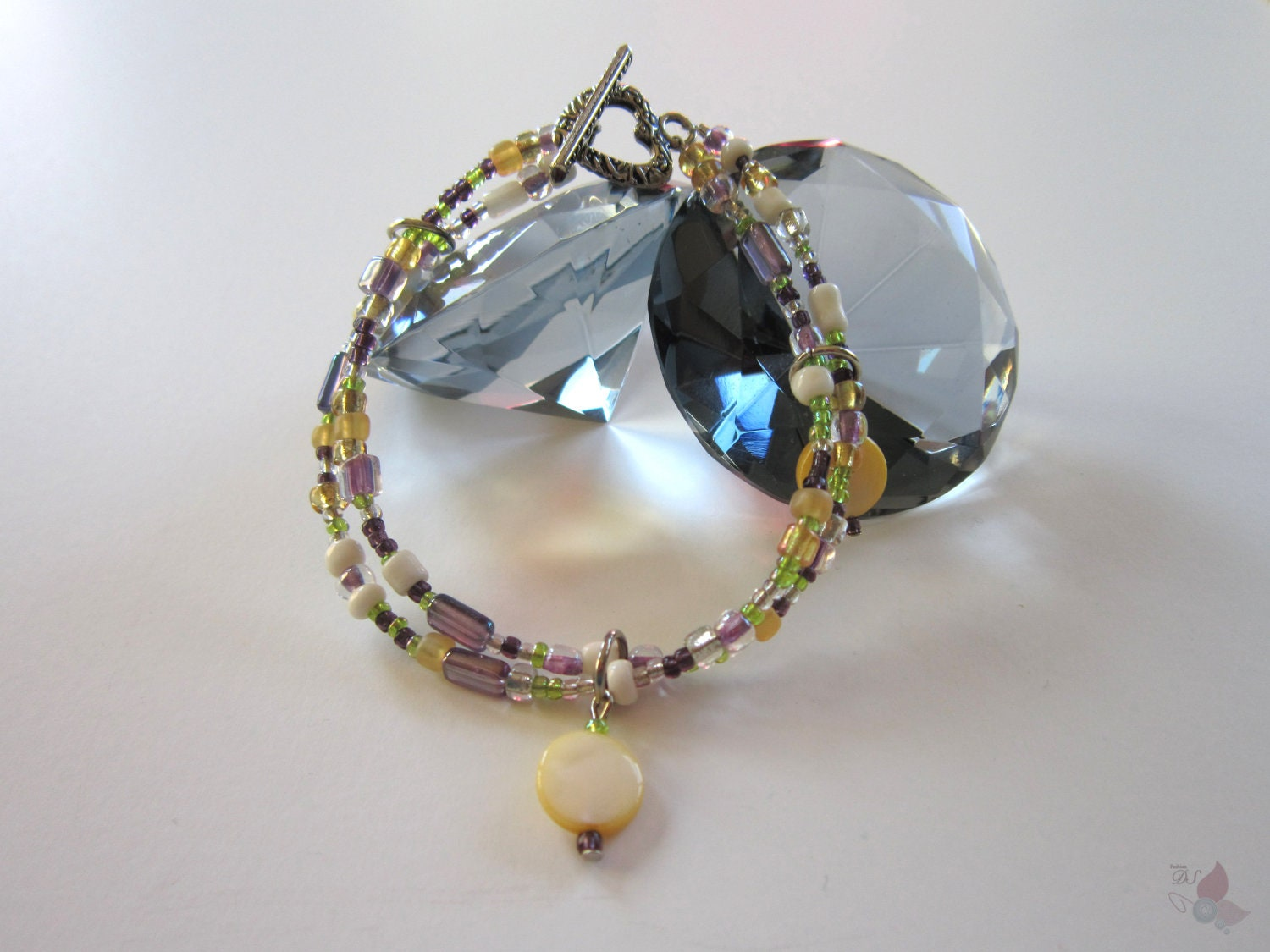 Beads and Shell Bracelet