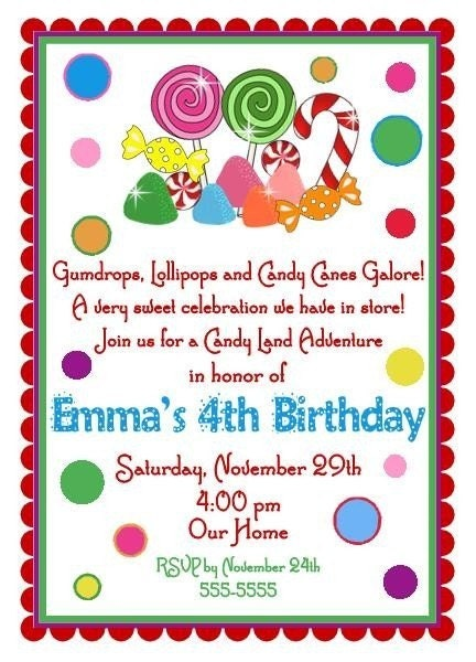 Candyland Party Invitation is beautiful invitation sample