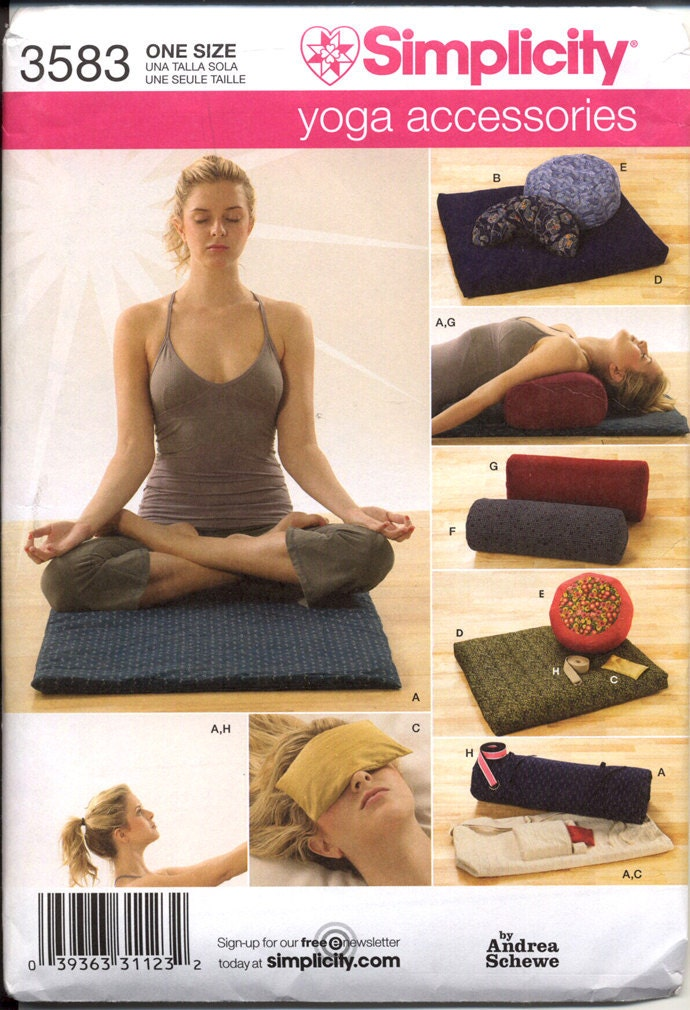 Simplicity 3583 Yoga Accessories Pattern By By