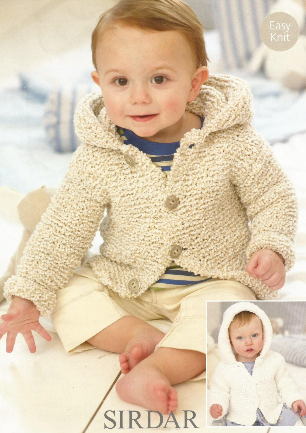 Instant Download  PDF  Easy Chunky Hooded Coat Knitting Pattern (12)