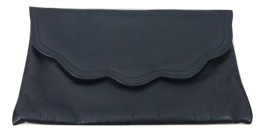 Vintage Clutch Bag Navy Blue Leather 1990s Jane Shilton Designer Wedding Races Garden Party Christening