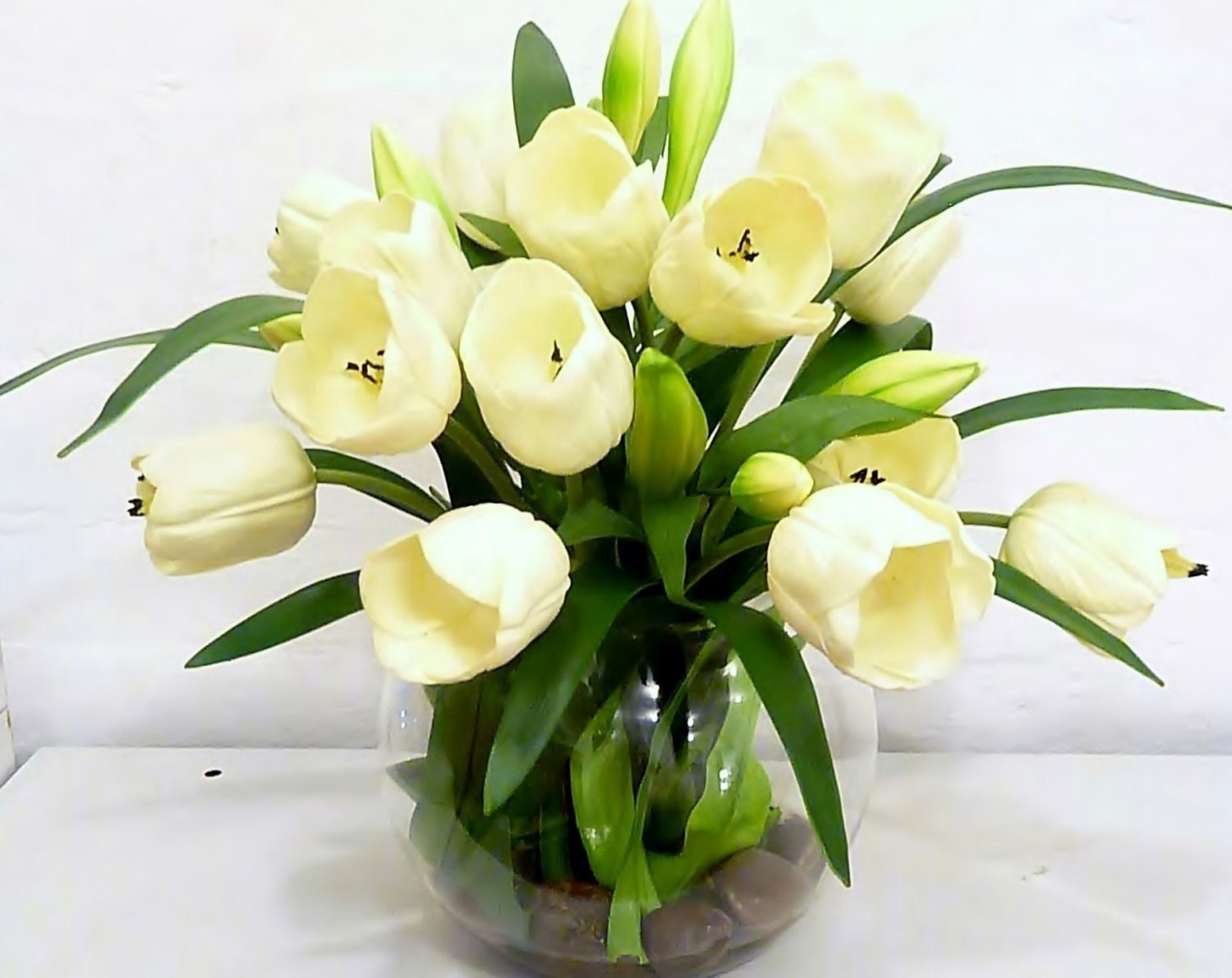Items Similar To Real Touch White Tulip Artificial Flower