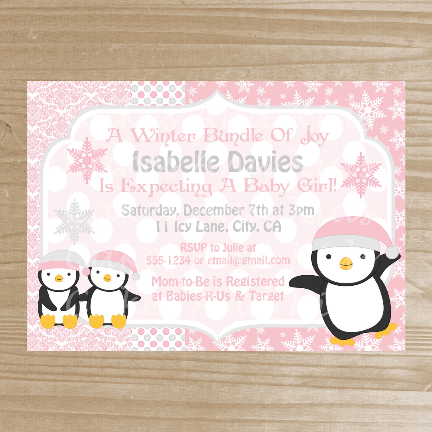 penguin baby shower invitation wi nter baby shower invitation for a