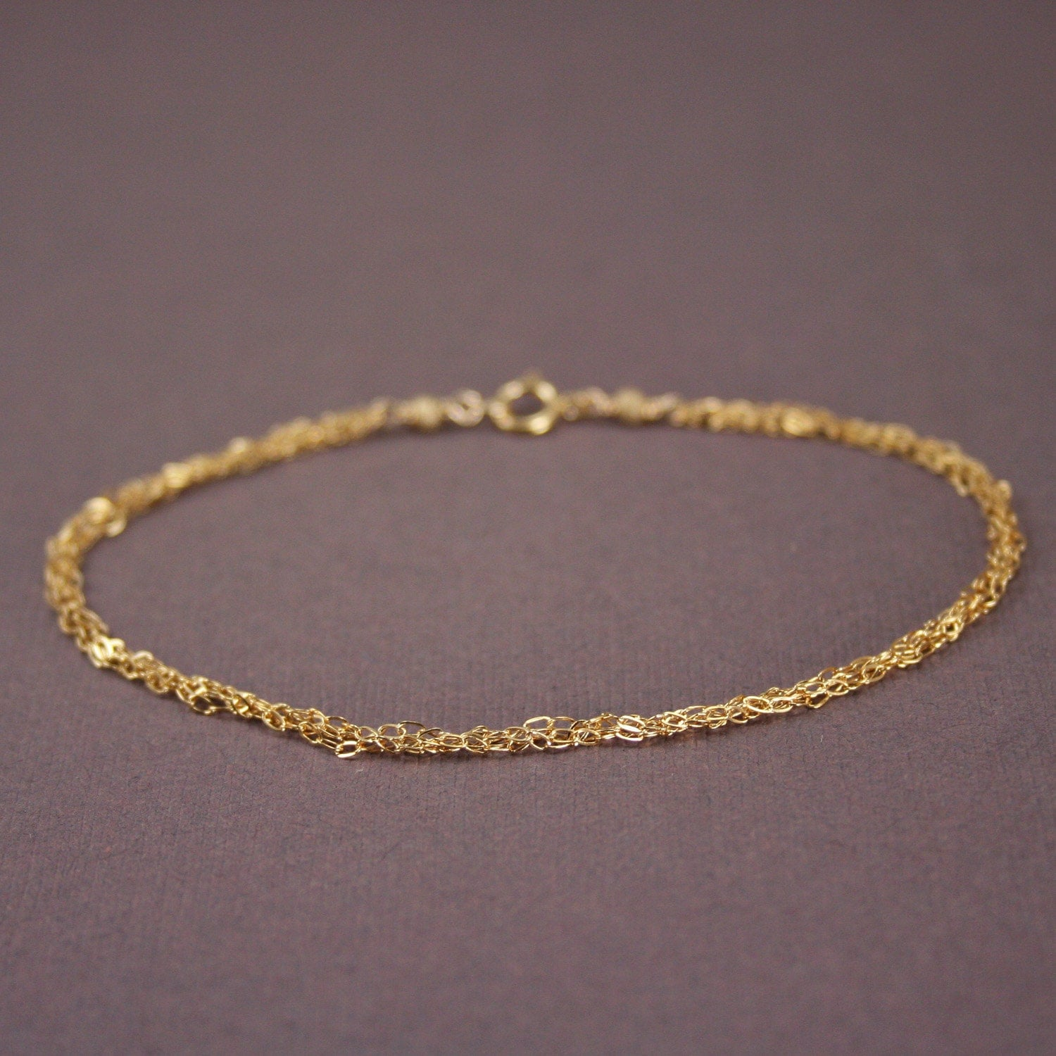 items similar to gold chain bracelet braided chain